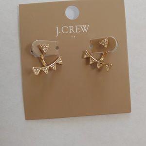 J. Crew ear jacket earrings